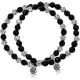 Sterling Silver 6mm Onyx Bracelet - Black - Lois Hill Bracelets