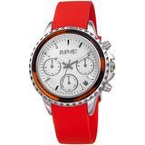Chronograph Quartz White Dial Watch - Red - August Steiner Watches
