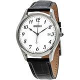 Classic Quartz White Dial Watch - Metallic - Seiko Watches