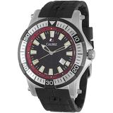 Hawk Date Black And Red Dial Black Rubber Mens Watch -4h1-04-007-4 - Black - Calibre Watches