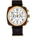 Clubmaster Chronograph Quartz White Dial Watch - Metallic - Briston Watches