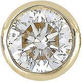 14k Yellow Gold Single Bezel Set Diamond Stud Earring - Metallic - Bony Levy Earrings