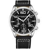 Aviator Black Dial Watch - Black - Stuhrling Original Watches