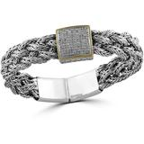 Sterling Silver & 18k Yellow Gold Diamond Bracelet - Metallic - Effy Bracelets