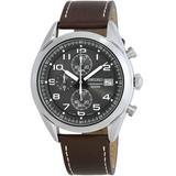 Chronograph Grey Dial Watch - Gray - Seiko Watches