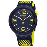 Bbneon Quartz Blue Dial Mens Watch - Blue - Swatch Watches