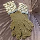 Michael Kors Accessories | Michael Kors Winter Gloves | Color: Tan/White | Size: Os