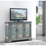 """Coast to Coast Accents TV Stand for TVs up to 60"""" Wood in Blue/Brown/Gray, Size 39.5 H x 56.0 W x 15.0 D in 