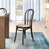 Bayou Breeze Julia Slat Back Side Chair in Matte Wood in Black, Size 35.24 H x 16.54 W x 21.07 D in | Wayfair 643C5B4824604B53918872F9D12F419F