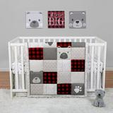 Redwood Rover Up North 4 Piece Crib Bedding Set Polyester in Red/White, Size 19.5 W in   Wayfair FB78A85649CE4722829BC164981EF7EE