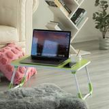 Isabelle & Max™ Bed Tray Laptop Foldable Table Metal in Green, Size 10.75 H x 23.5 W x 15.5 D in   Wayfair F00112B7DBA146C09EE894593619A043