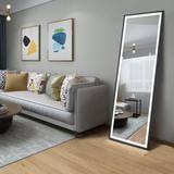 Latitude Run® LED Full Length Mirror Wall Mounted Lighted Floor Mirror Dressing Mirror Make Up Mirror Bathroom/Bedroom/Living Room/Dining Room/Entry D