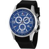Mauler Blue Dial Chronograph Black Rubber Watch -003 - Blue - Calibre Watches