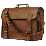 """KK's 16"""" Inch Leather Sturdy Messenger Leather Bags Leather Laptop Bags Leather Office Bags Leather School Bags Leather shoulder Bags Leather Overnight Vintage Leather Brown Bags for Men and women"""