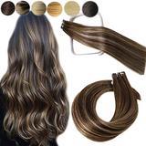 Tape in Hair Extensions Human Hair 50g Mushroom Brown Real Human Hair Extensions 18 Inch 50grams Tape in Human Hair Extensions Seamless Skin Weft Tape Hair Extensions