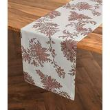 Solino Home Florence Table Runner – 14 x 72 Inch, Jacobean Printed Table Runner in Cotton X Linen for Kitchen   Dining   Decoration   Parties   Spring   Summer   Indoor & Outdoor use