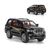 NMBD Diecast & Toy Vehicles 1:24 Scale/Diecast Metal Model for Toyota Land Cruiser Prado SUV Toy Car/Sound & Light/Pull Back/Educational Collection/Gift (Color : Black)