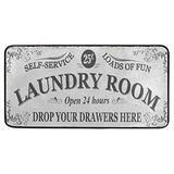 Laundry Room Rug Area Mat Non-Slip Grey Laundry Room Runner Rug Rubber Backing Floormat Runner, 39 x 20 Inch,Super Absorbent