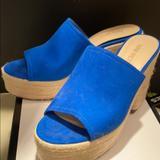 Nine West Shoes | Ladies Platform Shoes | Color: Blue | Size: 7.5