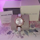 Michael Kors Accessories | Michael Kors Rose Gold Tone Watch Mk5774 | Color: Gold/White | Size: Os