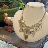 J. Crew Jewelry | Gorgeous Yellow Glass Statement Necklace | Color: Gold/Yellow | Size: 18 Inches