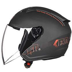 Jethelm Motorradhelm Helm Motorrad Mopedhelm Demi Jet Helm City, Unisex, Chopper/Cruiser, Ganzjährig ECE zertifizierung Halbschale Jet-Helm Retro MotorradHelm B,M(54~56cm)