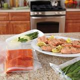 Foodsaver Vacuum Seal Bags Combo Pack, 25 Quart-Size & 10 Gallon-Size Bags, Size 11.9 H x 2.6 W x 5.0 D in   Wayfair FBSQ25G10NP