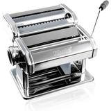 Shule Manual Pasta Maker Machine w/ 4 Attachments Stainless Steel in Gray/Green, Size 8.2 H x 7.7 W x 6.2 D in   Wayfair SHULE-PASTA-001