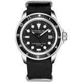 Aquadiver Black Dial Watch - Black - Stuhrling Original Watches