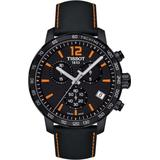 Quickster Chronograph Leather Strap Watch - Black - Tissot Watches