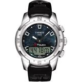 T-touch Ii Titanium Lady Leather Strap Watch - Metallic - Tissot Watches