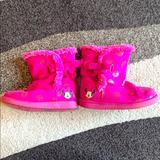Disney Shoes | Disney Minnie Mouse Ugg Style Boots | Color: Pink | Size: 11g