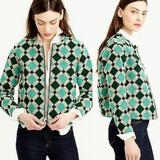 J. Crew Jackets & Coats   J. Crew Morrocan Tile Blazer Size 12. Pre-Owned   Color: Green   Size: 12