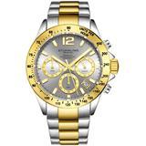 Monaco Grey Dial Watch - Metallic - Stuhrling Original Watches