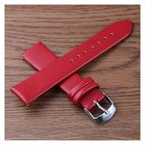 Leather Watch Straps 8Mm 10Mm 12Mm 14Mm 16Mm 18Mm 20Mm 22Mm 24Mm Leather Watch Band Men Women Sport Strap Wrist Bracelet Watch Band (Band Color : Red, Band Width : 16Mm)