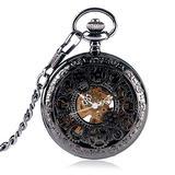 GPWDSN Pocket Watch for Men Mechanical Hand Winding Pocket Watches for Women Hollow Gear Design Roman Numerals Pocket Watch,Pocket Watch and Chain