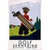 "GREATBIGCANVAS Vintage Advertising - Golf Semmering Fine Art Poster Print, Golf Home Decor Artwork, 20""x30"""