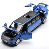 Diecast Vehicle 1:32 for Rover for Range Alloy Limousine Metal Diecast Car Model Pull Back Flashing Musical Kids Toy Vehicles for Kids Boys Girls Gift (Color : Blue)