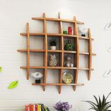 LIANGJUN Background Wall Wall-Mounted Shelves Wooden Storage Living Room, 4 Colors, 3 Sizes Avaliable (Color : Cherry Wood color-90cm)