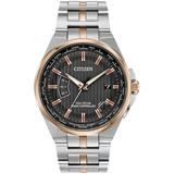 Men's World Perpetual A-t Eco-drive Stainless Steel Watch - Metallic - Citizen Watches
