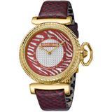 Swiss Quartz Embossed Leather Strap Watch - Metallic - Roberto Cavalli Watches