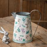 Metal Pitcher with Floral and Plaid Design - CTW Home Collection 440014
