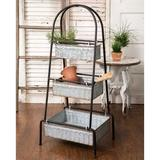 Three-Tier Tall Floor Display - CTW Home Collection 530033
