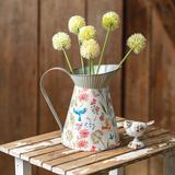 Tall Metal Pitcher with Floral Design - CTW Home Collection 440018