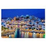 Jigsaws Puzzles Agios Nikolaos City Night Rainbow Jigsaws Puzzle Game 1000 Pieces For Adults Challenging Puzzles Table Game Jigsaw Puzzles Christmas Toy Gift Wooden Family Puzzles