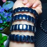 1pcs Natural Terahertz Hand Row Men and Women Magnetic Crystal Bracelets Hand-Painted Jewelry Refreshing Anti-Fatigue Stone Collection
