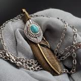 Free People Jewelry   Fp Jewelry Necklace Turquoise Antique   Color: Gold/Silver   Size: Os