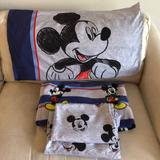 Disney Other | Disney Mickey Mouse Twin Sheet Set | Color: Blue/Gray | Size: Twin
