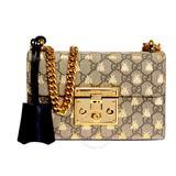 Gucci Bags | Guccipadlock Beige Black Gg Bees Small Bag | Color: Gold/Tan | Size: W20.5cm X H13cm X D7.5cm.