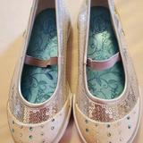 Disney Shoes | Disney Mary Jane Style Size 10m | Color: Silver/White | Size: 10g